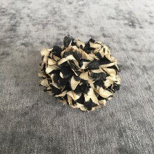 Kate Spade Fabric Pom Pom Flower Ring